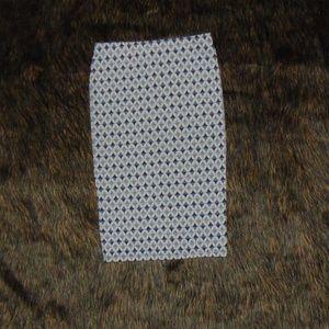 Zara Trafaluc Diamond Pattern Skirt (M)